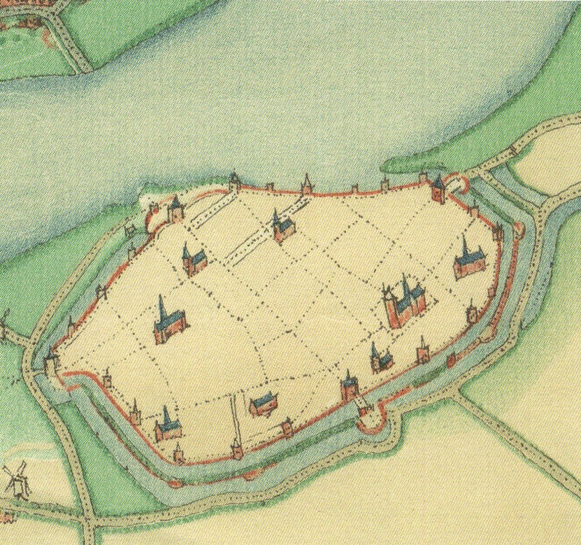 oude stadsplattegrond