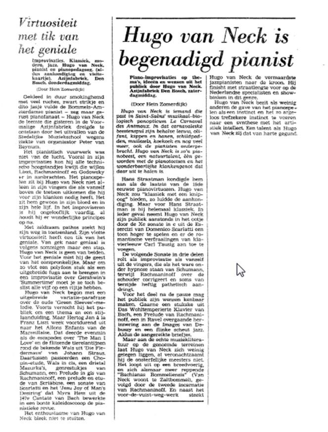 artikel Hugo van Neck
