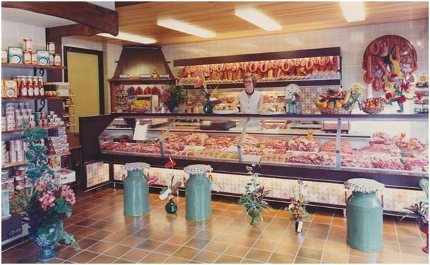 slagerij na verbouwing 1975