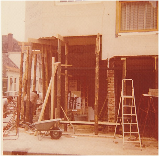 verbouwing 1975 slagerij