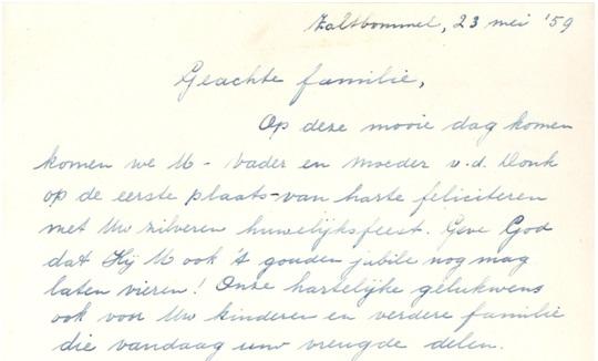brief zusters deel 1 aan fam vd donk
