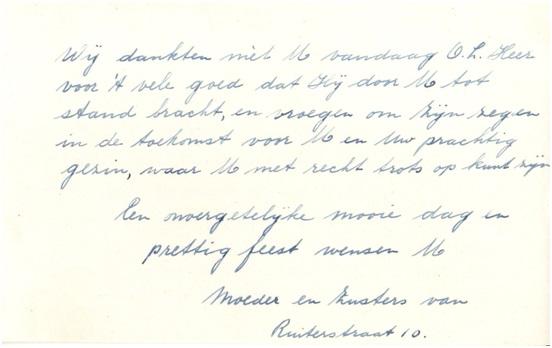 brief zusters deel 2 aan fam vd donk