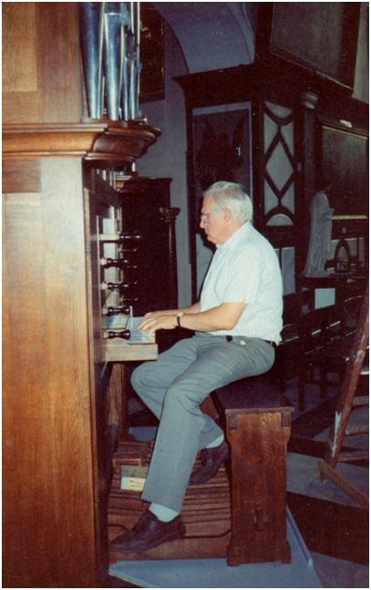 Maarten Tiggelman ah orgel in Brugge