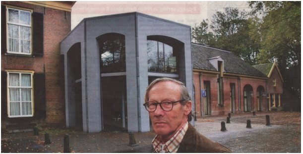 Peter Thole bij huize Brakel
