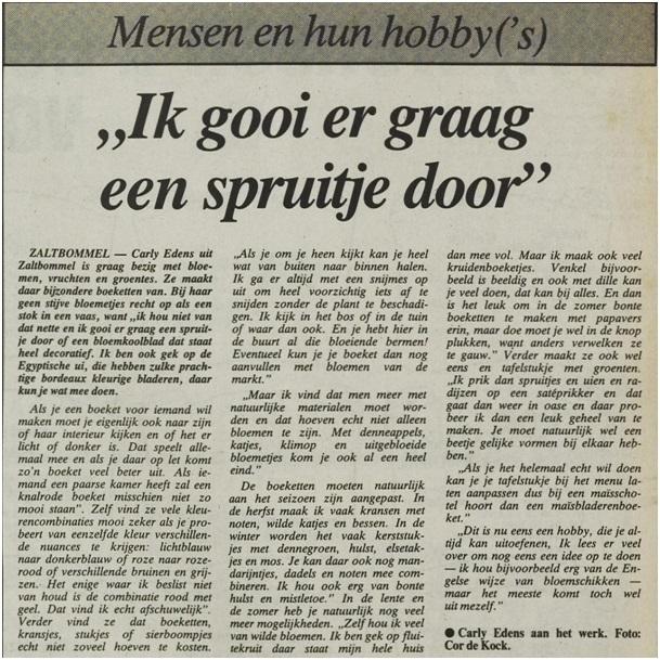 artikel in de toren 1983