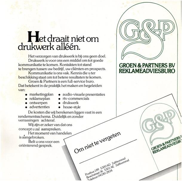 drukwerk van groen en partners