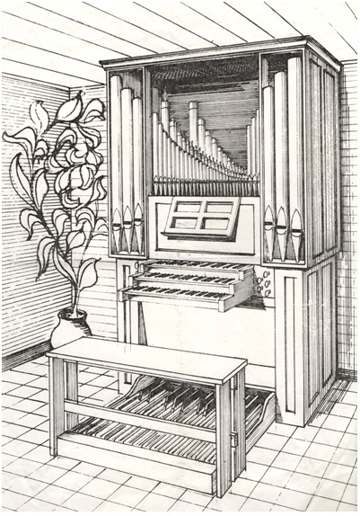 tekening vh orgel