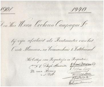 handtekening vn de regenten