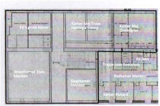 plattegrond eerste etage ruiterstraat 10