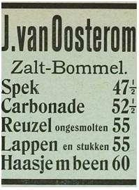 advertentie in de krant