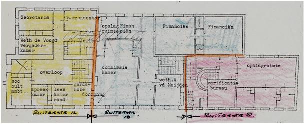 indeling-1e-etage-omstreeks-1980