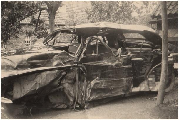 in 1957 ernstig ongeluk