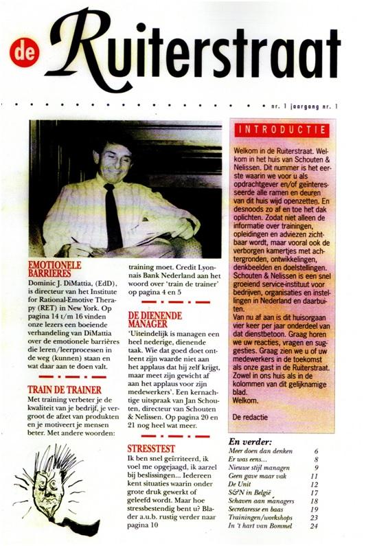 eerste nummer tijdschrift