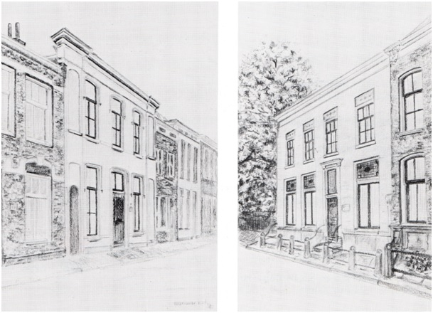 tekening van ruiterstraat 12