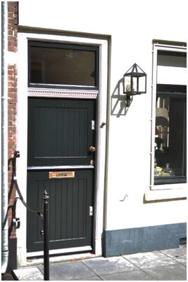 overzicht voordeur ruiterstraat 29