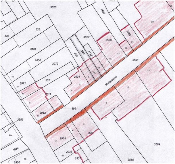 plattegrond stoepen ruiterstraat