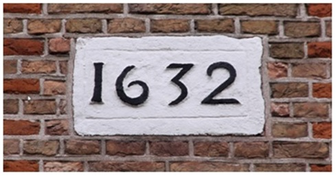 gadget plaquette 1632 hoek ruiterstraat lange strikstraat